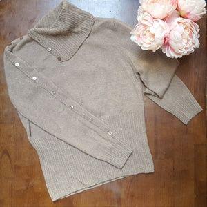 Sweaters - Avvenire NY, 100% Cashmere Sweater, Tan, XL